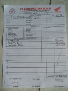 Edian Vario 125 ganti V-Belt, Kampas Ganda dan Kampas Belakang Habis 800 Ribu..
